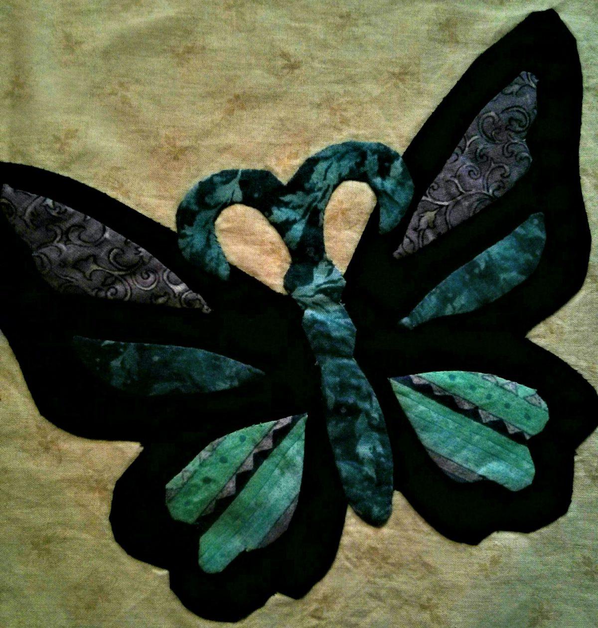 butterfly applique block
